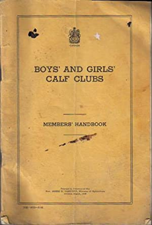 Boys' and Girls' Calf Club, Members' Handbook
