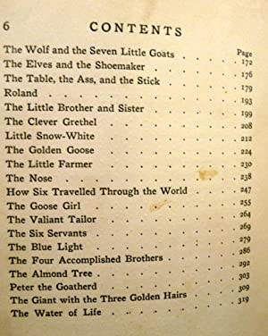GRIMM'S FAIRY TALES PICTURED BY MONRO S. ORR: The Brothers Grimm; Orr, Monro S.