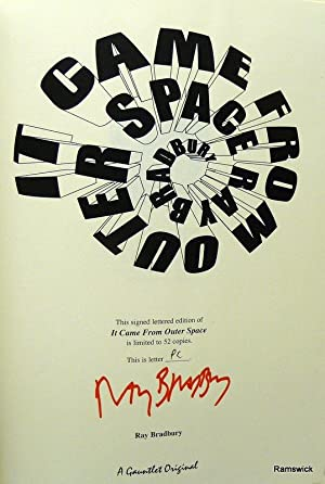 IT CAME FROM OUTER SPACE [SIGNED LETTERED: BRADBURY, RAY
