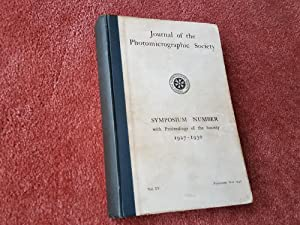 JOURNAL OF THE PHOTOMICROGRAPHIC SOCIETY - SYMPOSIUM