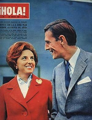 REVISTA HOLA Nº 1167 - 7 ENERO 1967 - COMPROMISO MATRIMONIAL EN ESTORIL: FARAH DIBA SUDESTE IRÁN