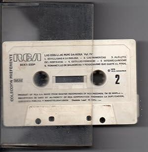 LAS COSAS DE PEPE DA ROSA VOL. IV AUDIO CASSETTE 1975: HUMOR POPULAR ESPAÑOL CANCIÓN ESPAÑOLA