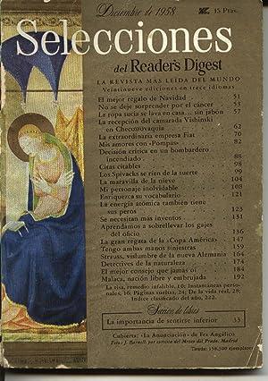 Selecciones del Readers Digest : diciembre 1958.: Decisión crítica en