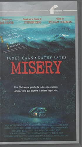 PELÍCULA VHS MISERY, JAMES CAAN, KATHY BATES. DIRECTOR: ROB REINER