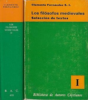 LOS FILÓSOFOS MEDIEVALES 2 Tomos OBRA COMPLETA: Clemente Fernández, S.