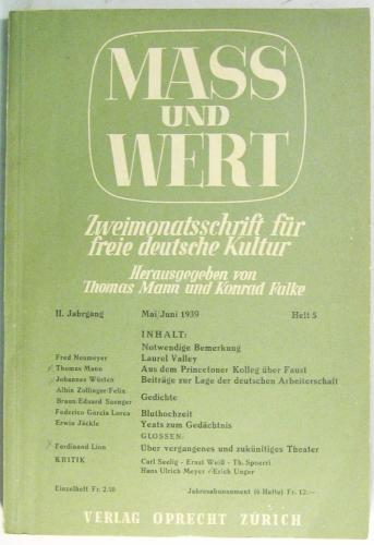 Zweimonatsschrift Für Freie Deutsche Kultur