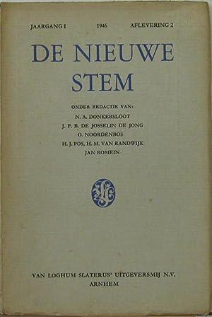 Jaagang 1 1946, Aflevering 2. Oder Redactie: De Nieuwe Stem: