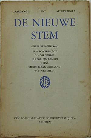 Jaagang 2 1947, Aflevering 5. Oder Redactie: De Nieuwe Stem: