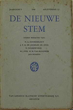 Jaagang 1 1946, Aflevering 12. Oder Redactie: De Nieuwe Stem: