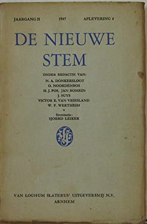 Jaagang 2 1947, Aflevering 6. Oder Redactie: De Nieuwe Stem: