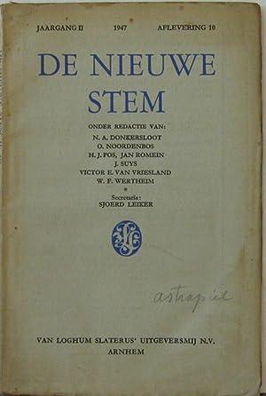 Jaagang 2 1947, Aflevering 10. Oder Redactie: De Nieuwe Stem: