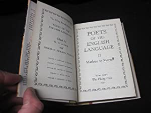 Poets of the English Language II: Marlowe to Marvell (The Viking Portable Library): Auden, W.H.
