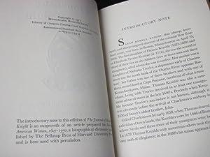 The journal of Madam Knight: Knight, Sarah Kemble; Freiberg, Malcolm