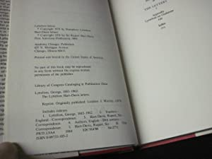 The Lyttelton/Hart-Davis Letters: Correspondence of George Lyttelton and Rupert Hart-Davis, ...