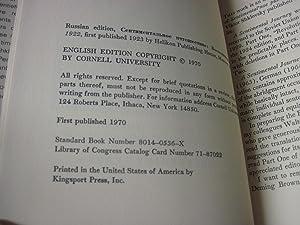 A Sentimental Journey; Memoirs, 1917-1922: Shklovskii, Viktor Borisovich