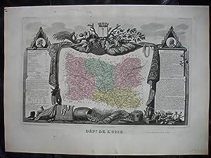 Carte du département de l'OISE (extraite de l'Atlas National illustré des 89 Départements ...