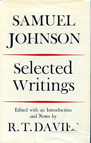 SAMUEL JOHNSON. SELECTED WRITINGS: JOHNSON, SAMUEL