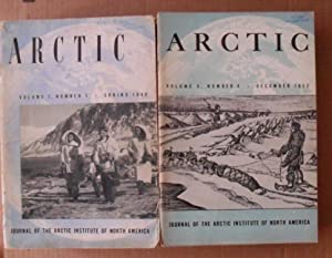 Arctic. Journal of the Arctic Institute of North America 1948 - 1955. Complete serie of the 8 first...