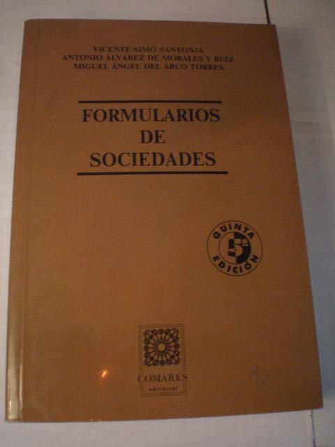 Formularios De Sociedades De Vicente Sim U00f3 Santonja