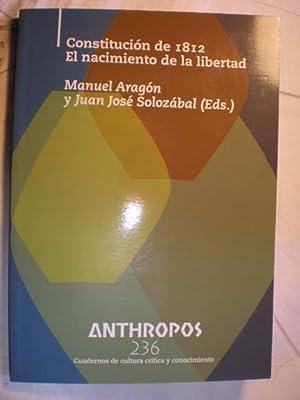 Revista Anthropos Nº 236. Constitución de 1812.: Manuel Aragón -