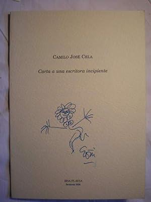 Carta a una escritora incipiente: Camilo José Cela