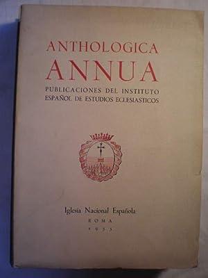 Anthologica Annua. 3 - Publicaciones del Instituto: Justo Fernández Alonso