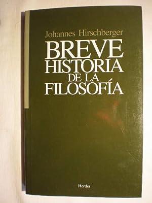Breve historia de la filosofía: Johannes Hirschberger