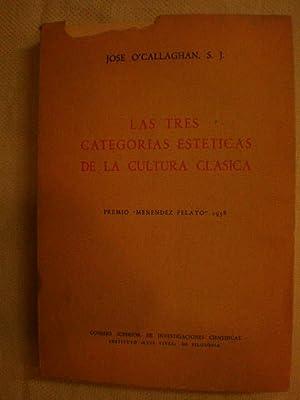 Las tres categorías estéticas de la cultura: José O'Callaghan, SJ