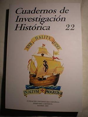 Cuadernos de Investigación histórica. Num. 22 ,: María Ruiz Trapero