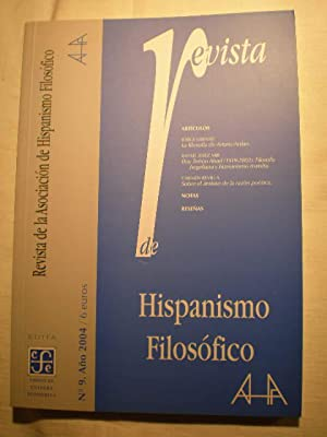 Revista de hispanismo filosófico. Num. 9 -: Pedro Ribas Ribas
