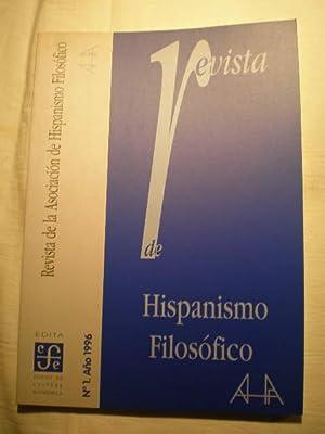 Revista de hispanismo filosófico. Nº 1 -: Diego Núñez Ruiz