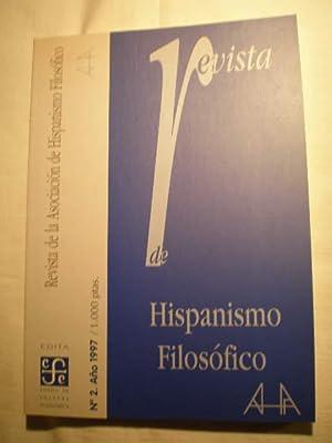 Revista de hispanismo filosófico. Nº 2 -: Antonio Jiménez García