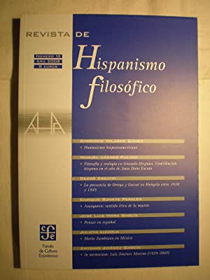 Revista de hispanismo filosófico. Nº 13 -: Ambrosio Velasco Gómez;