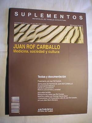 Juan Rof Carballo. Medicina, sociedad y cultura.: Ramiro Gabarrós Cardona