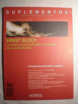 Ernst Bloch. La utopía como dimensión y: Ernst Bloch