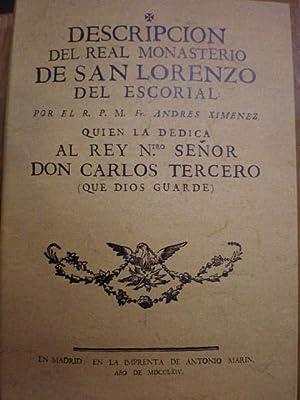 Descripción del Real monasterio de San Lorenzo: R. P. M.