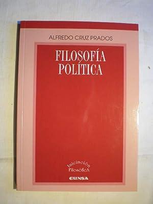 Filosofía política: Alfredo Cruz Prados