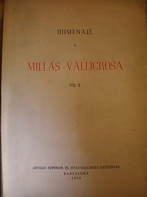 Homenaje a Millás Vallicrosa. Vol. II: Angeles Masiá -