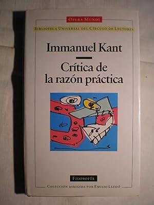 Crítica de la razón práctica: Immanuel Kant
