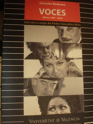 Gonzalo Badenes. Voces ( Ritmo, 1987-2000): Gonzalo Badenes - Pedro González Mira (Ed.)