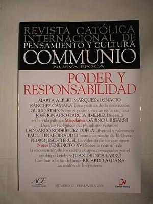 Communio. Revista católica internacional de pensamiento y cultura. Num. 12 - Primavera 2009 ...