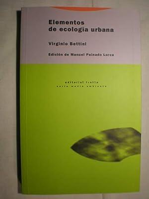 Elementos de ecología urbana: Virginio Bettini