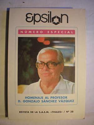 Epsilon. Revista de la Sociedad Andaluza de: Javier Pérez Fernández
