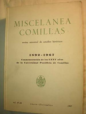 Miscelánea Comillas Vol. 47-48. Conmemoración de los: José Alonso Díaz,