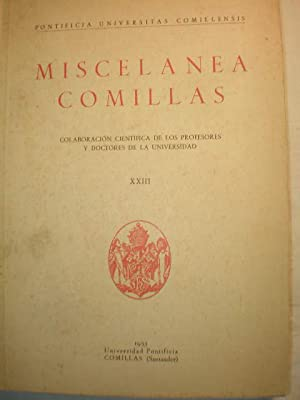Miscelánea Comillas. Tomo XXIII - 1955: Luis Cura Pellicer