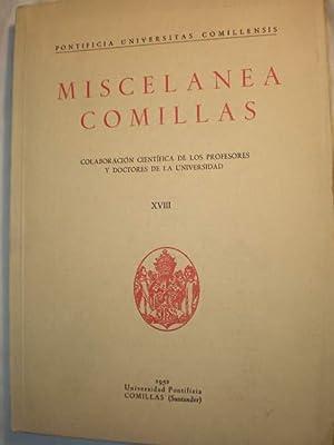 Miscelánea Comillas Volumen XVIII - 1952: J. B. Rabeneck, SI - Angel Santos, SI - Timoteo ...
