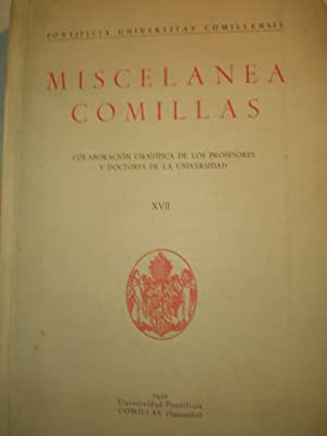 Miscelánea Comillas Volumen XVII - 1952: Jesús González Quevedo,