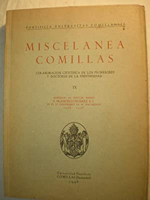 Miscelánea Comillas Volumen IX - Homenaje al: Dr. Cayetano Cicognani