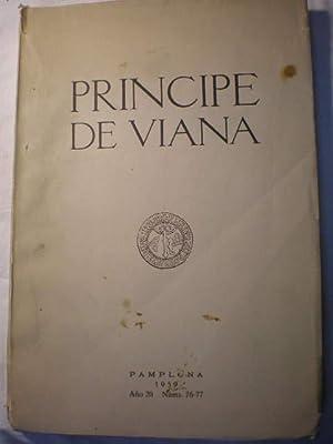 Príncipe de Viana. Año 20. Nums. 76-77 - 1959: Cynthia Milton Weber - Rafael Gambra -...