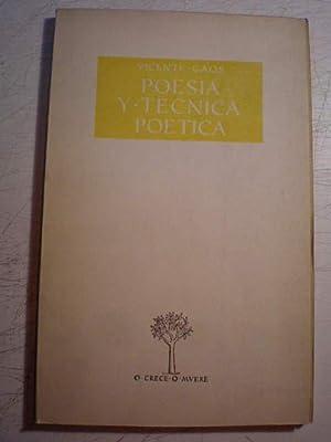 Poesía y técnica poética: Vicente Gaos